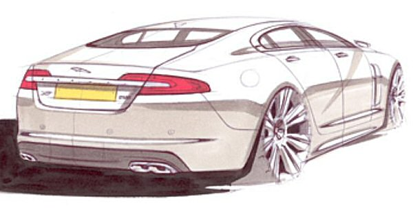 Signature XF styling - and the coupe-like roofline - are now in place...