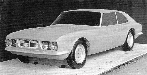 With his impending retirement at the age of 70, Sir William Lyons was left to set up a Jaguar styling department. Here is an early effort at an XJ saloon based GT for the XJ27 project penned by Lyons' men, Or this could be the XJ 3-litre mentioned earlier?