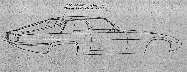 A Malcolm Sayer sketch for the XJ27.
