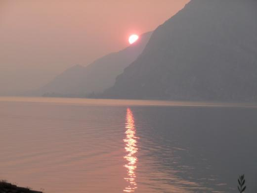 Lake Iseo at sunset...