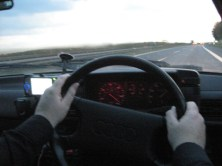 Pushing on at 120mph in Germany in a 23 year old Audi...
