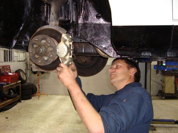 MOTEST's ex Austin-Rover technician working on the new calipers