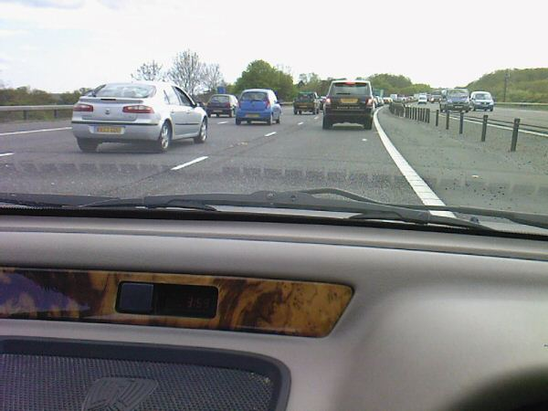 Typical motorway traffic prompted the demise of the Rover 214's radiator