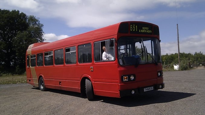 Leyland National - and me driving it!