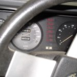 The original 80mph federal speedometer shows just 712 original miles