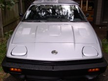 The TR7 after its first warm soapy bath in two decades looks pretty good