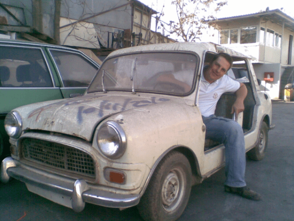 John Reymondos and his amazing Mini Beach Car