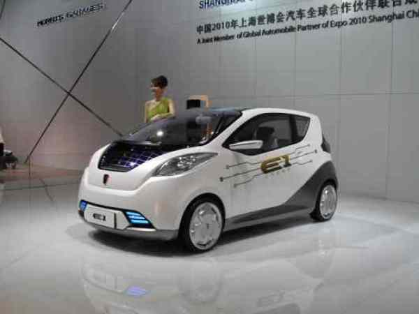 China watch saic motor 39 s electric car to be based on e1 for Miranda motors used trucks