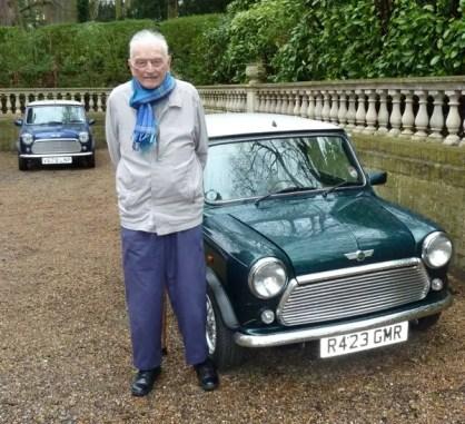 Dr Alex Moulton and his 1997 Mini Cooper