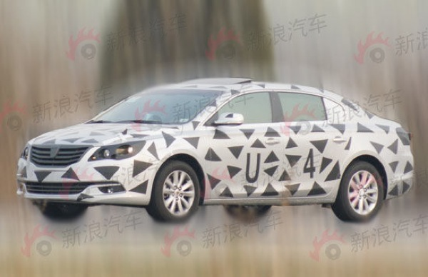 2013 Roewe 750 undergoing testing in China