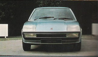 Cavalier prototype's frontal styling is already taking shape in 1972.