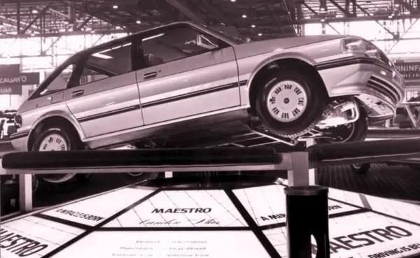 Austin Maestro Vanden Plas at Geneva 1983 (Image via www.zwischengas.com, Automobil-Revue)
