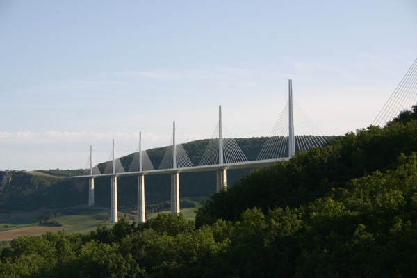 Millau Viaduct was - and is - a UK designed breath-taker. And there was still over quarter of a tank of diesel left when I arrived here