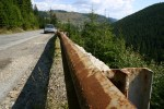 Rusty armco on one dangerous piece of Romanian road