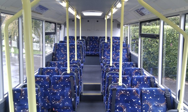 Inviting Interior - A far cry from the damp austerity of old buses!