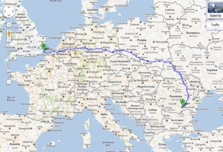 Here's my idea of a route back from Bucharest. What do you think?