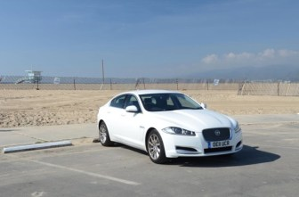 Jaguar XF crosses America and averages over 60mpg
