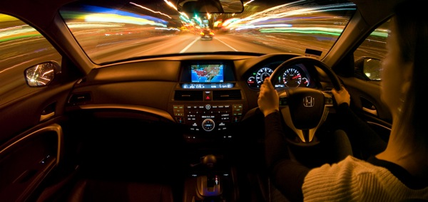 Driving at night isn't as ideal as this image would portray... in middle England, at least.