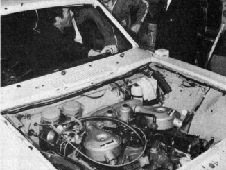 BL Special Tuning did build a V8 Marina. This pic dates from 1974. ST boss Basil Wales is in the photo