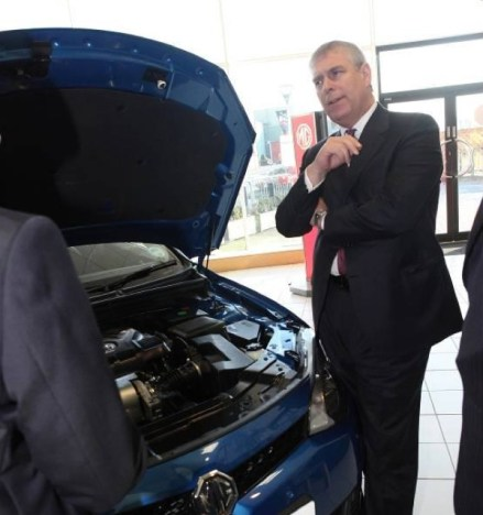 The MG6 diesel was shown to the Duke of York.