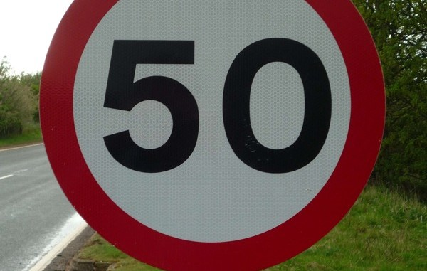 50mph limit a fuel saving measure