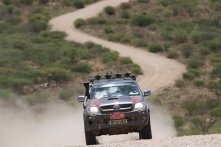 Andy Actman maintains a very narrow lead - only 40 seconds after nearly four weeks of transcontinental rallying
