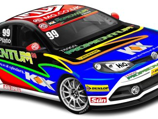 A computer rendering of the 2012 BTCC MG6