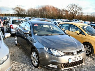 The first MG6 to go to auction in the UK didn't set the market alight.