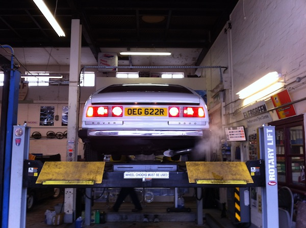 Rover SD1 ay AJF Engineering getting its 2012 MoT
