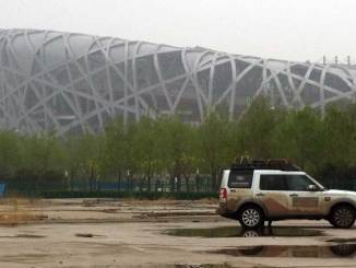 Land Rover Discovery 1,000,000 at the Bird's Nest in Beijing
