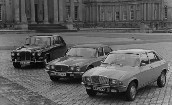 The Daimler range of 1975