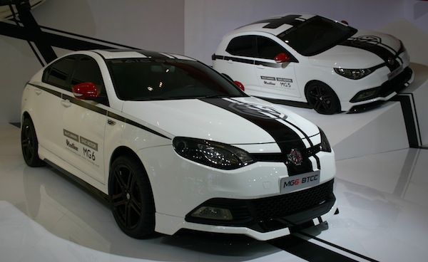 Chinese market MG6 racing edition, as styled in Longbridge. It has red seatbelts...