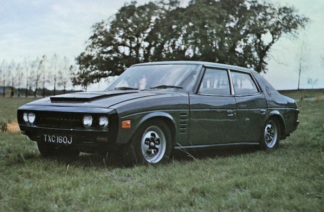 Austin Allegro launch and growing pains. How the Rover P8 looked just before production was cancelled in 1971.