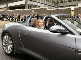 The Jaguar F-type gets its dynamic debut in the UK in the hands of Jessica Ennis