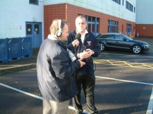 Electrical Engineering Manager Paul Carrick gives yet another interview to a local Radio Station.