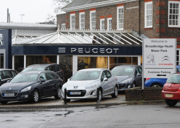 Another death of a dealer - Our local PSA showroom is to close next week (picture: West Sussex County Times)