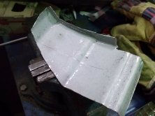 Quickly shaped repair-panel.