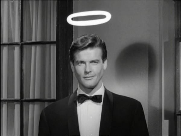 Roger Moore playing the famous Charteris crime fighter - The Mr Templar I knew was no Saint!