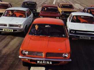 Morris Marina line-up