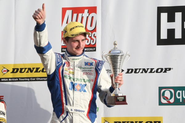 Sam Tordoff celebrating his first BTCC podium at Brands Hatch last Saturday