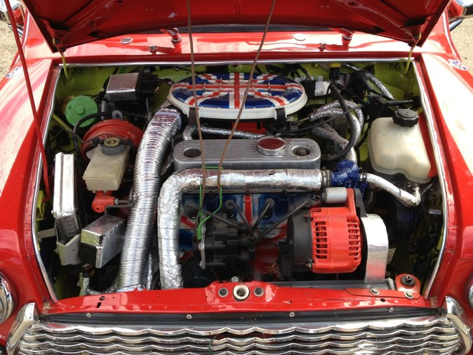 Someone's gone overboard on their love of the Union Flag. It was a German-registered car...