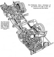 Early cutaway drawing of chassis layout