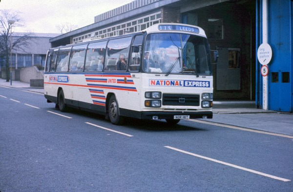The epitome of `70s coaching? A Plaxton Supreme Leopard on National Express duties.