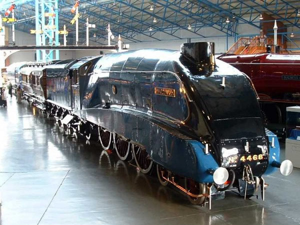 Pride of place at the National Rail Museum in York LNER 4468 Mallard - The worlds fastest steam locomotive.