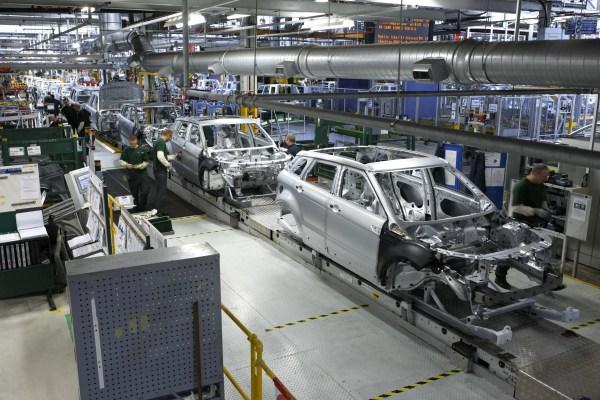 Evoque production line