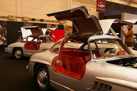 HK Engineering had no less than 6 gullwing Mercedes for sale.