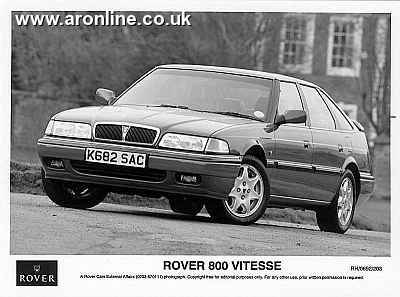 A Rover 800 Vitesse. In grey. Or black and white, at least...