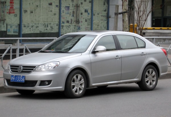 The Shanghai Volkswagen Lavida - a SAIC VW joint venture built off the ever popular Golf Mk 4 platform