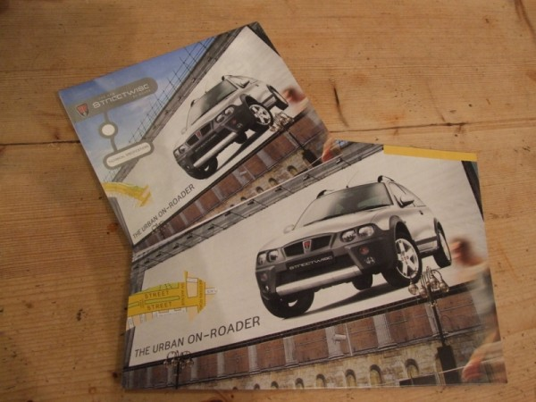 Original Streetwise marketing material - as provided with my Rover test car back in 2003...