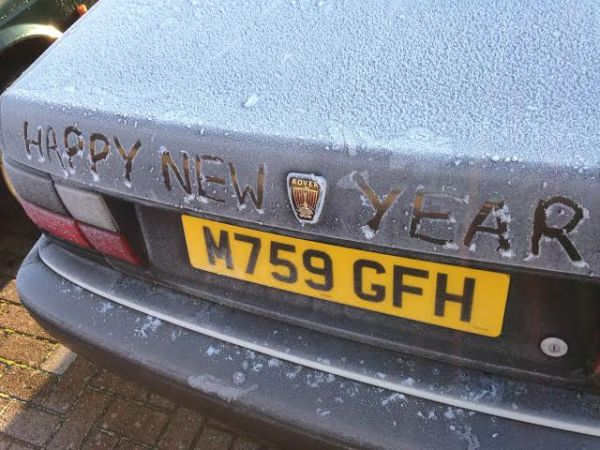 All the best for 2015 - from the Editor, and his car...